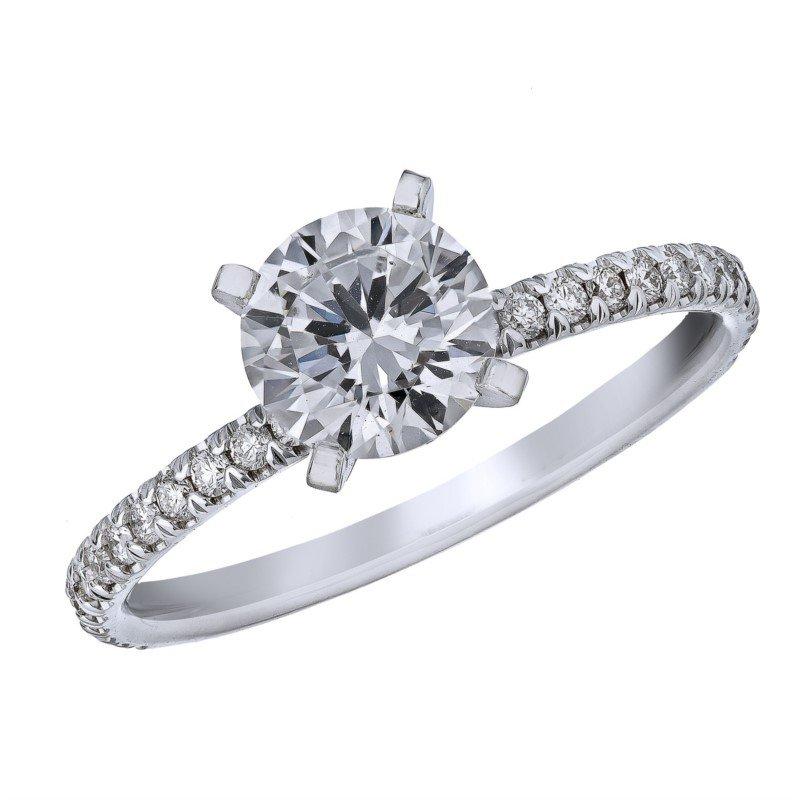 Lasker Bridal Pave Diamond Engagement Ring