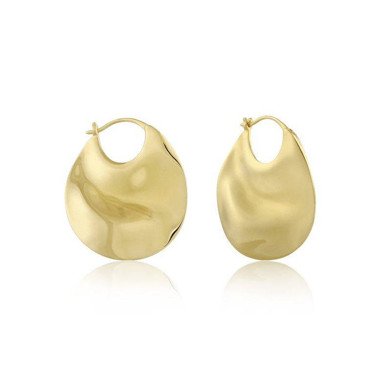 Ania Haie Ripple Thick Hoop Earrings