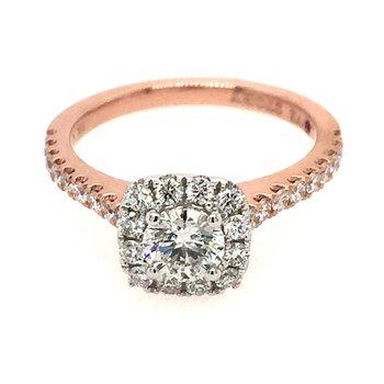Selena Grande Halo Engagement Ring