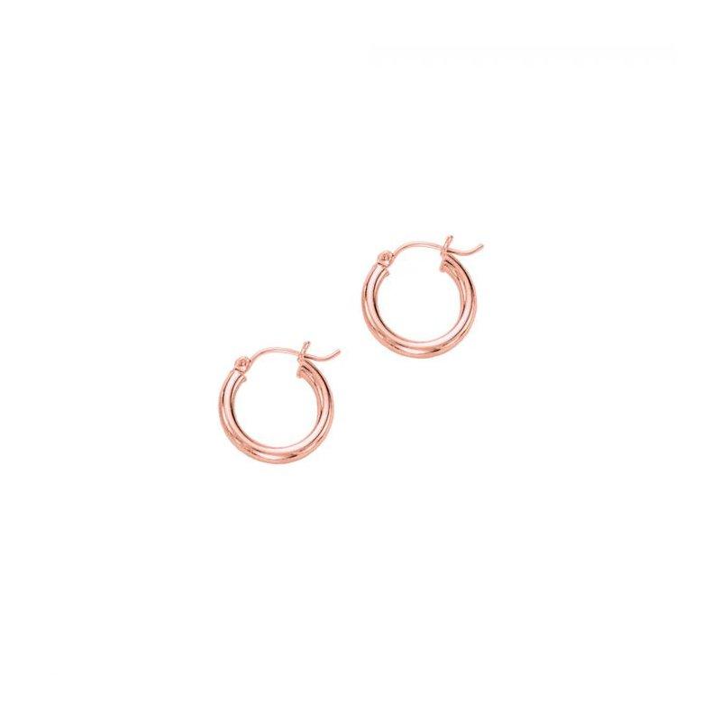 Lasker Gold Fashion 14kt Rose Gold 15x3mm Hoops