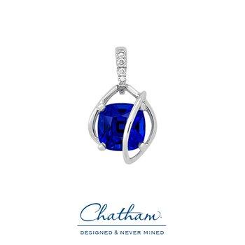 Chatham Blue Sapphire Pendant