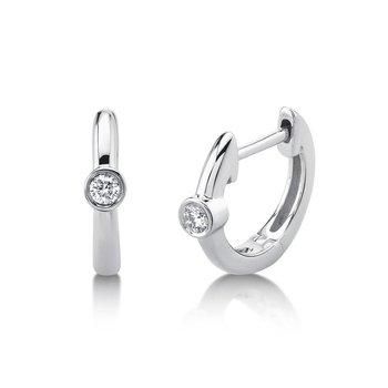 One & Only Bezel Huggie Earrings