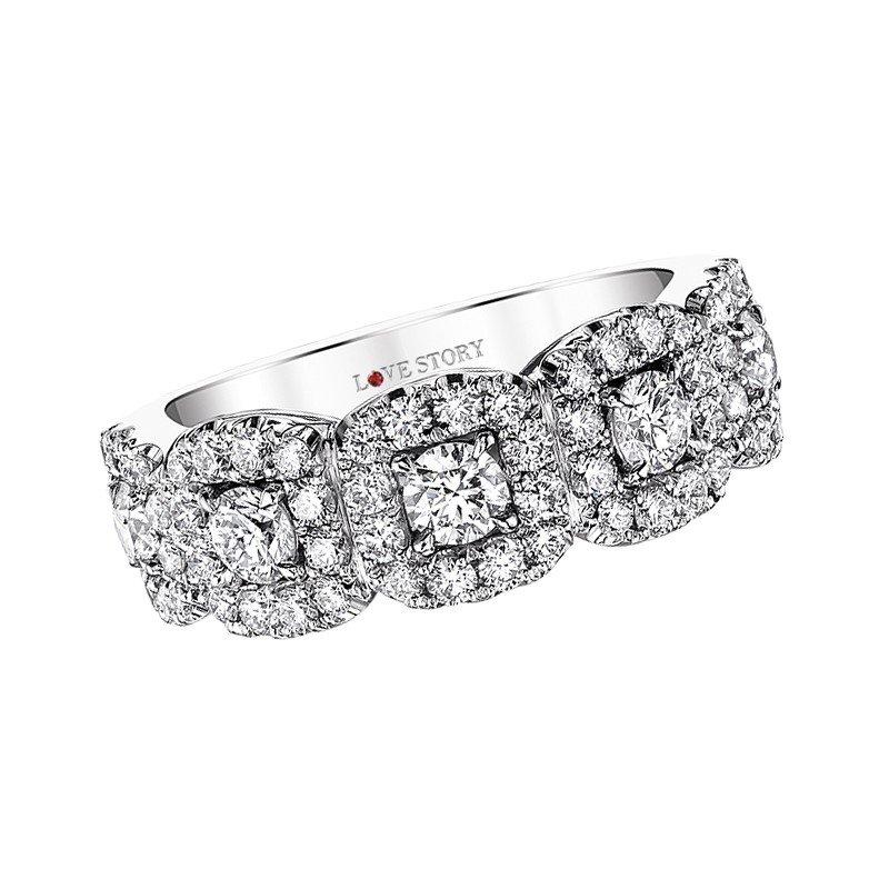 Lasker Bridal Cushion Halo Venus Diamond Ring - 1.50TW
