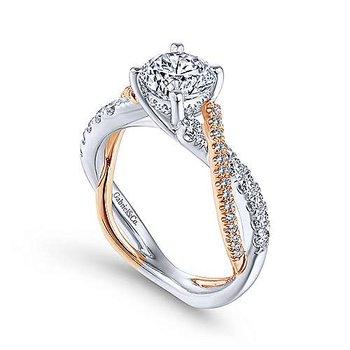 Sandrine Ring in Rose & White Gold