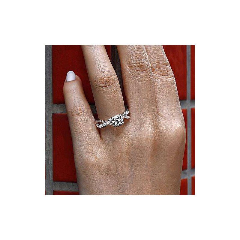 Gabriel Bridal Sandrine Ring in Rose & White Gold