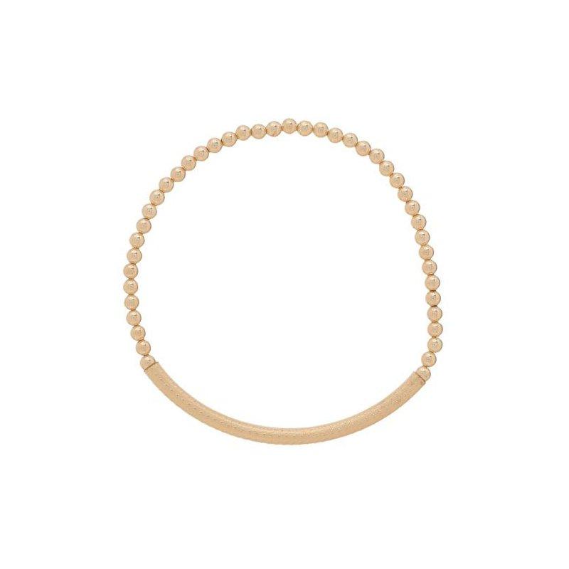 enewton Gold Filled Textured Bliss Bar 3Mm Bead Bracelet