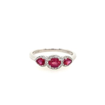 Past - Present - Future Ruby Ring