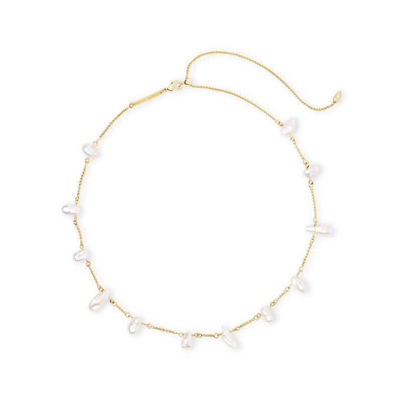Kendra Scott Krissa Gold Choker Necklace In Pearl