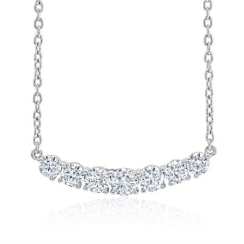 Fire & Ice Crescent Necklace - 3/4cttw