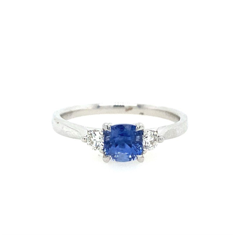 Lasker Gemstone Past, Present and Future Sapphire Ring