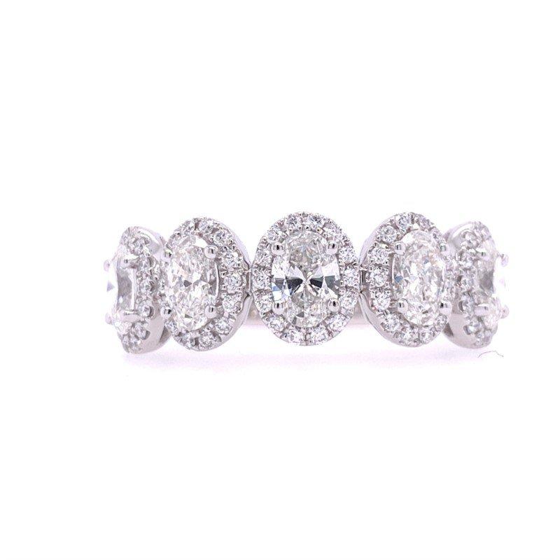 Lasker Bridal Oval Halo Diamond Band