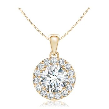 Spectacular Center Of My World Diamond Pendant In 18Kt Yellow Gold