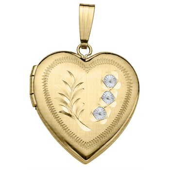 20x18mm Engraved Heart Locket
