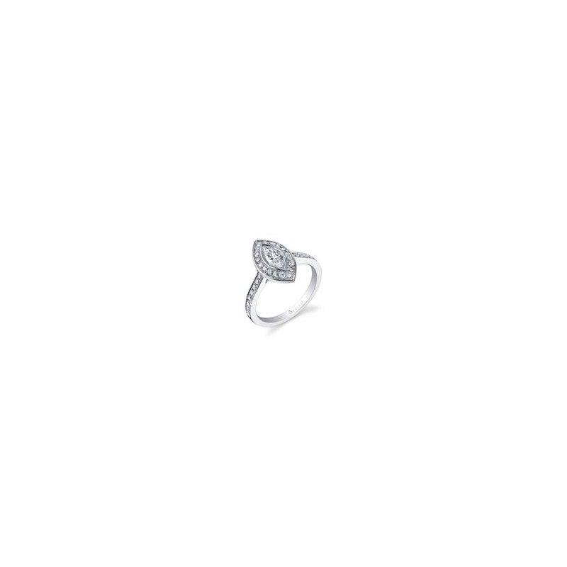 Lasker Bridal Marquise Halo Engagement Ring