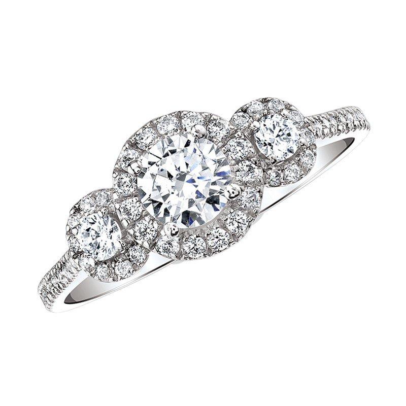 Lasker Bridal Past, Present, Future Halo Ring - 1cttw