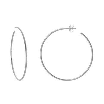 Open Hoop Post Earrings