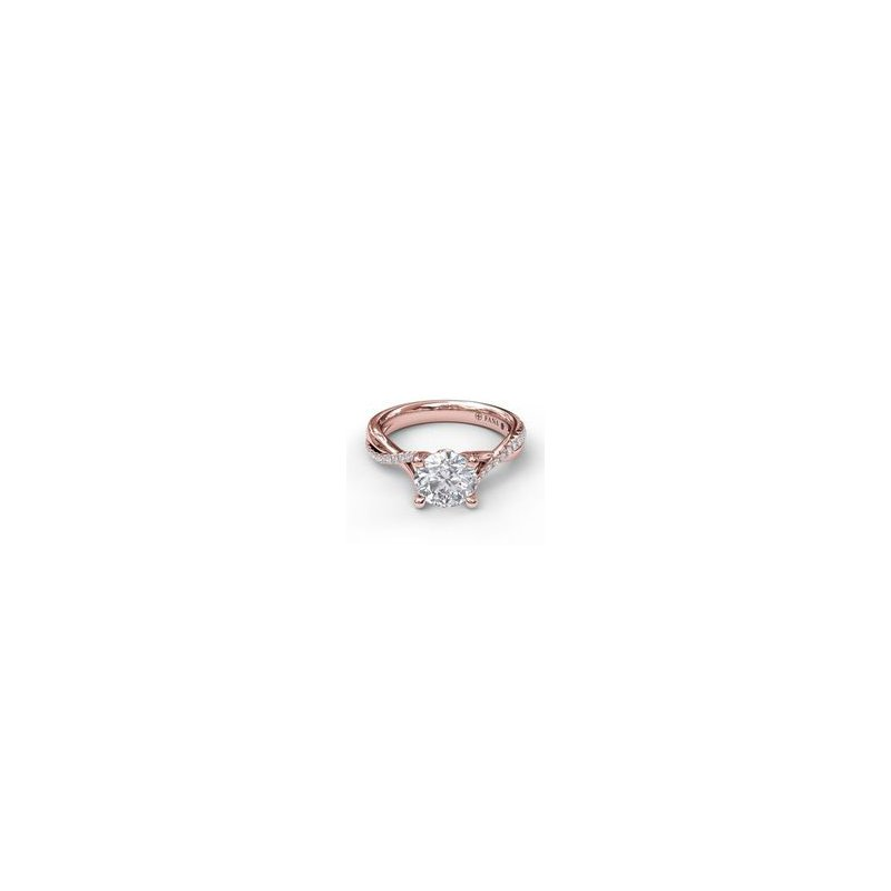 Fana Crossover Ring Mounting in Rose Gold