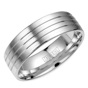 Lite Grooved Wedding Band