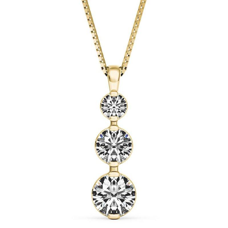 Lasker Diamond Fashion Past, Present, Future Diamond Pendant