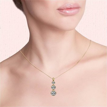 Past, Present, Future Diamond Pendant