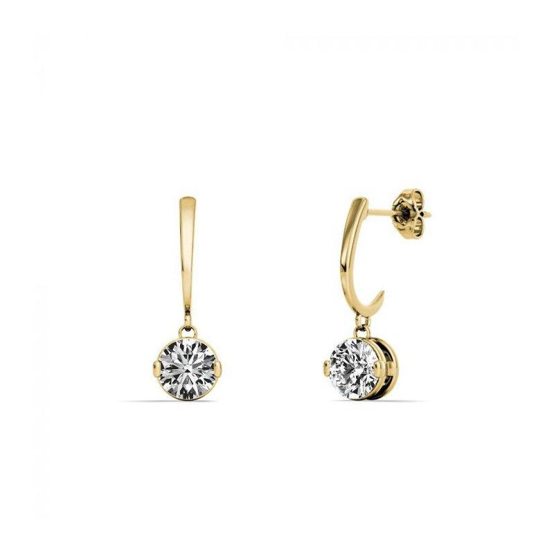Lasker Diamond Fashion One & Only Dangle Earrings - 3/4CTTW