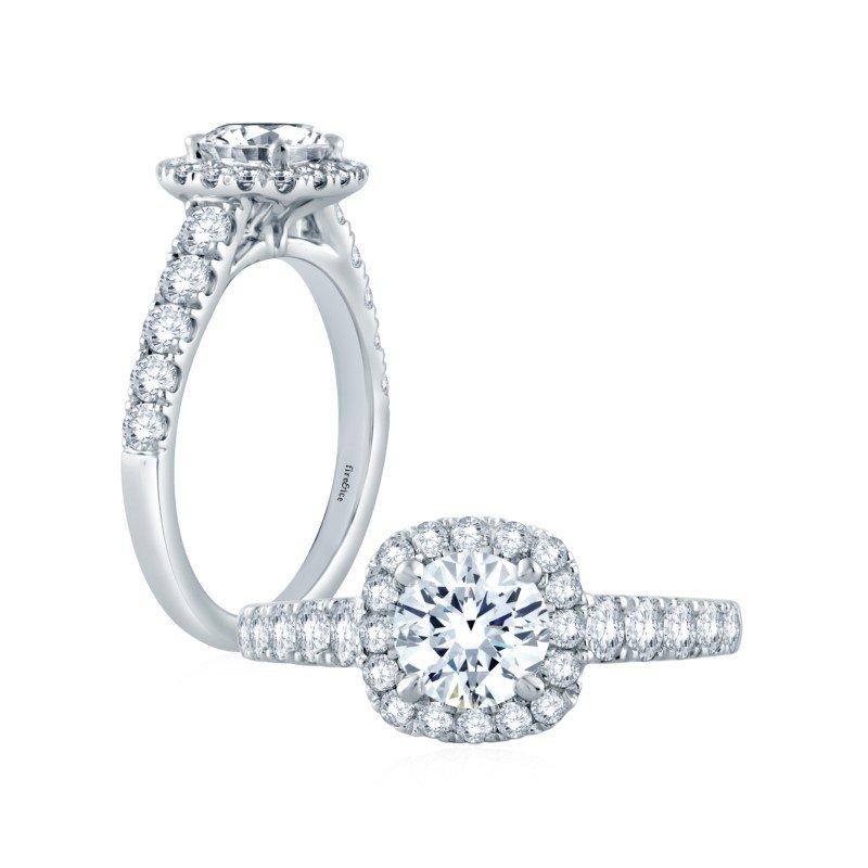 Fire & Ice Diamonds Fire & Ice Sophia Ring - 3/4ct Center Diamond