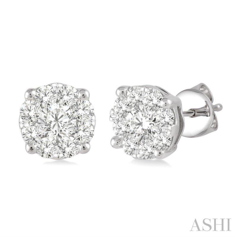 Lasker Diamond Fashion Lovebright Diamond Stud Earrings - 2.10cttw