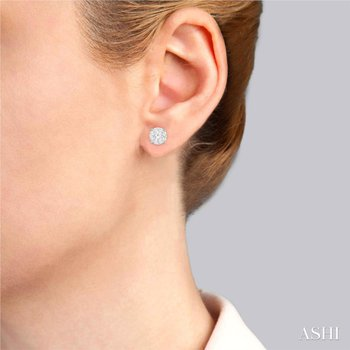 Lovebright Diamond Stud Earrings - 2.10cttw