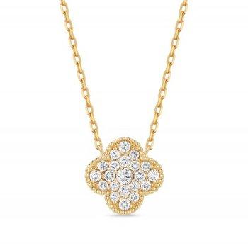 Granada Floral Diamond Pave Pendant