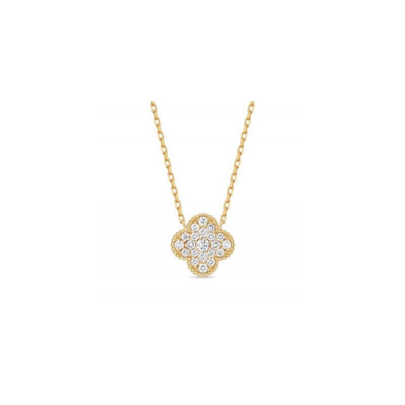 Lasker Diamond Fashion Granada Floral Diamond Pave Pendant
