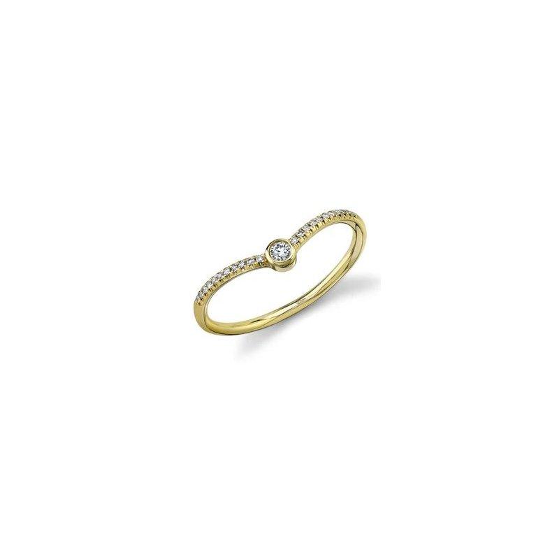 Lasker Diamond Fashion Chevron Fashion Ring