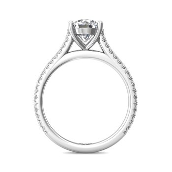 FlyerFit Micropave Engagement Ring Mounting