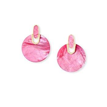 Didi Gold Statement Earrings In Azalea Illusion