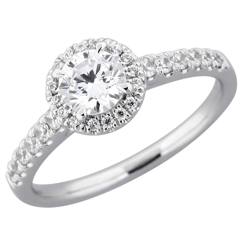 Lasker Bridal Classic Round Halo Ring - 3/4cttw