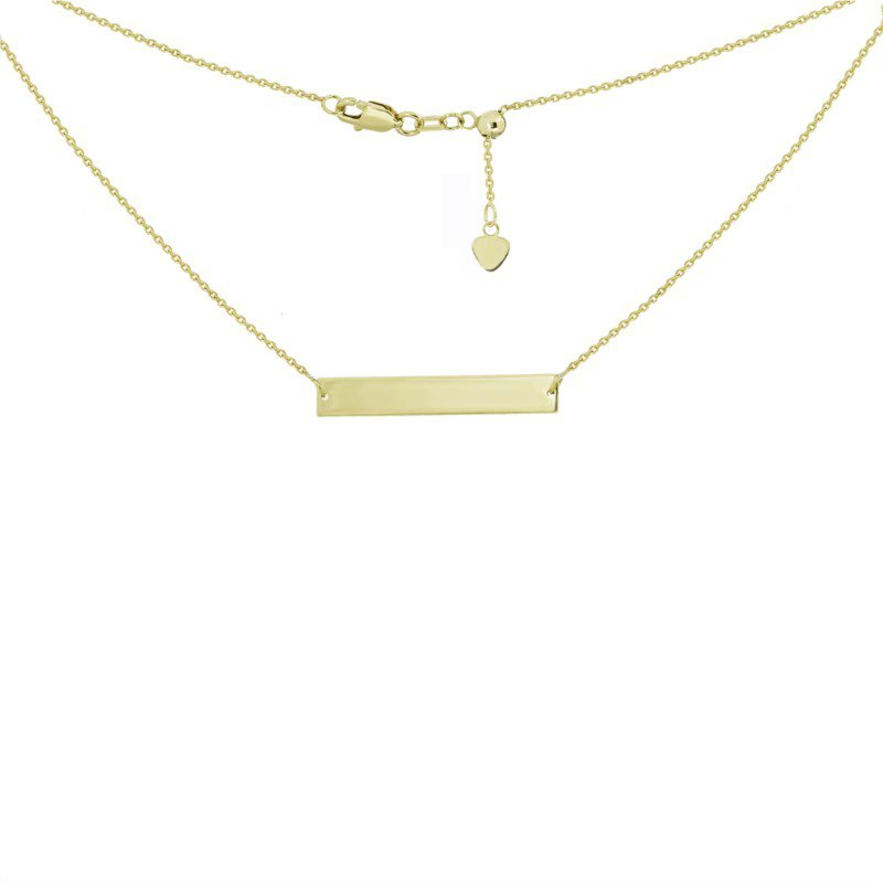 Lasker Gold Fashion Gold Bar Necklace