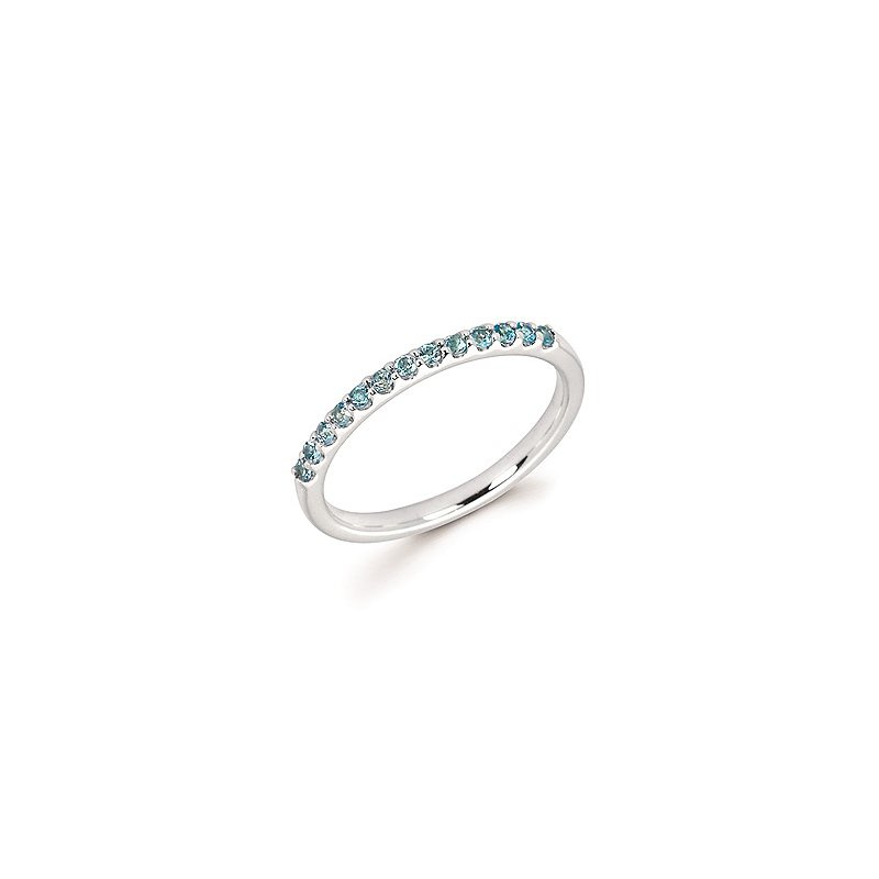 Lasker Gemstone Blue Topaz Birthstone Ring