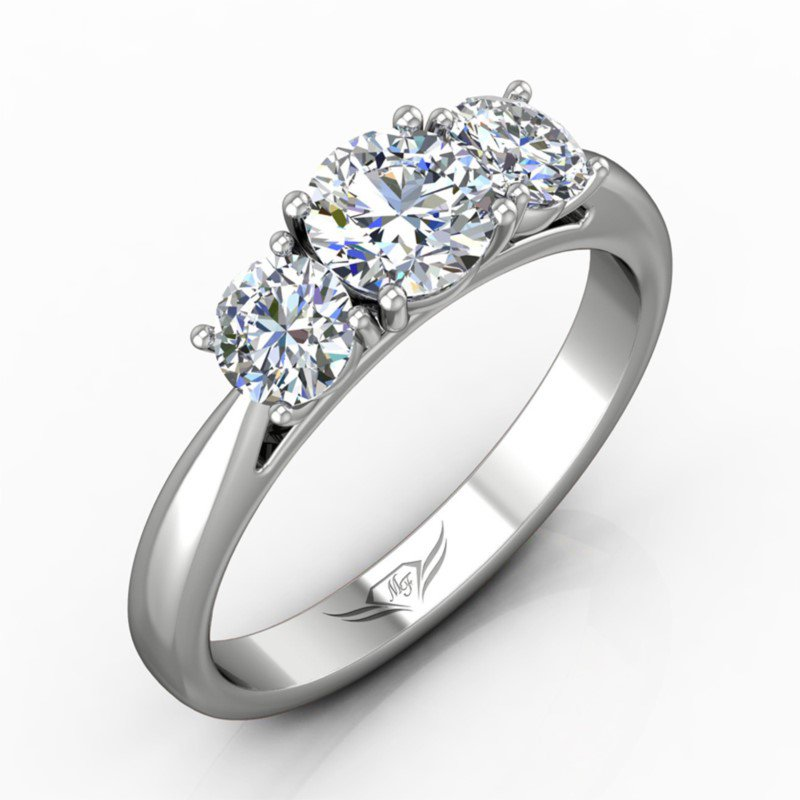 Forevermark Three-Stone Engagement Ring