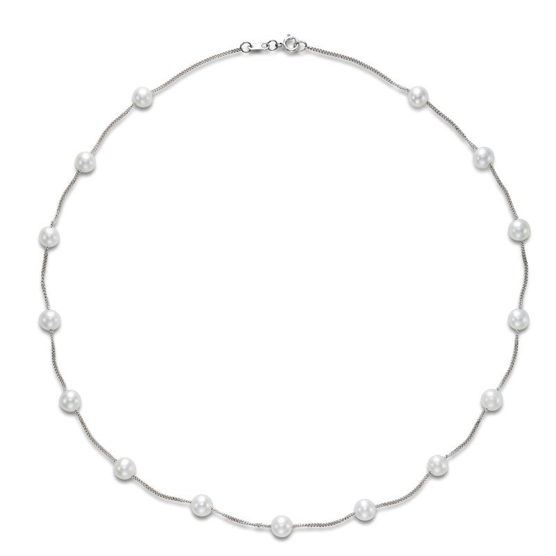 Lasker Pearl Fashion Tin Cup Pearl Necklace