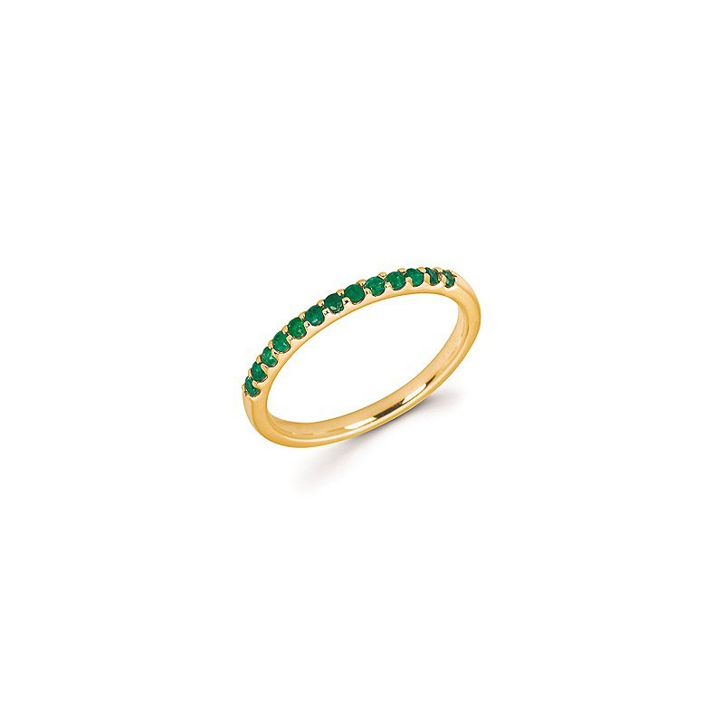 Lasker Gemstone Emerald Birthstone Ring