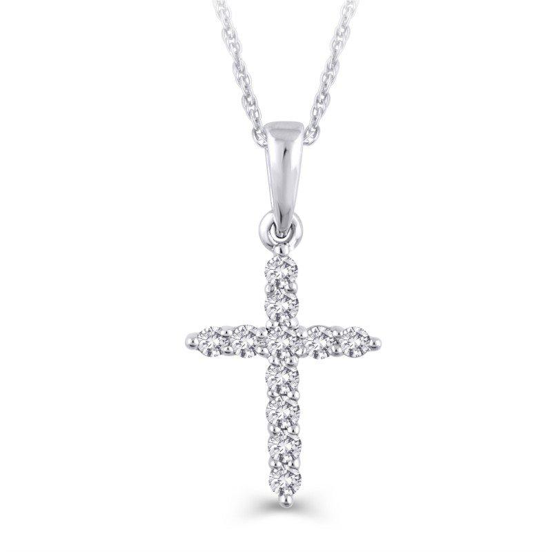Lasker Diamond Fashion Diamond Cross Pendant - 1/3TW
