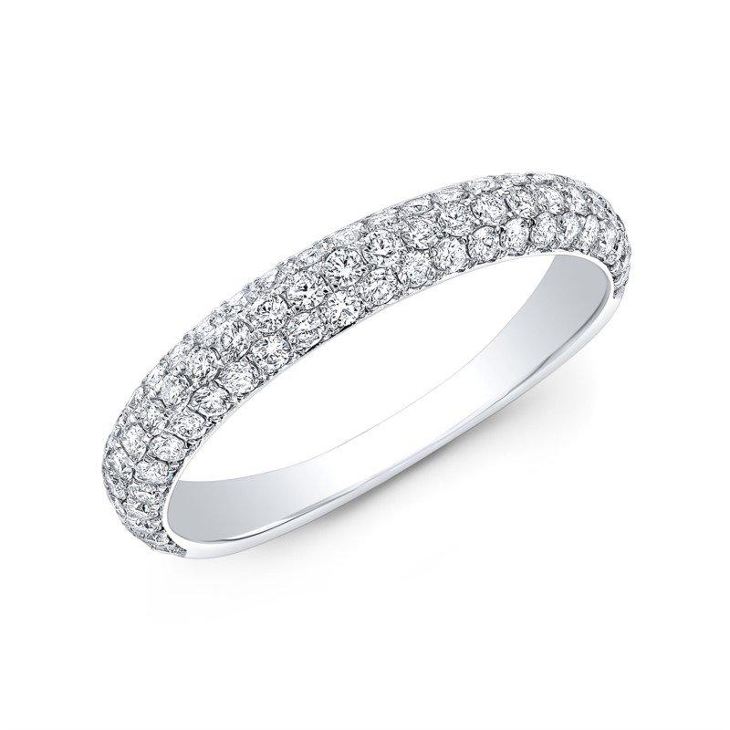 Lasker Bridal Pave' Set Diamond Band