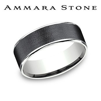 Ammara Stone Band - Wire Brush Finish