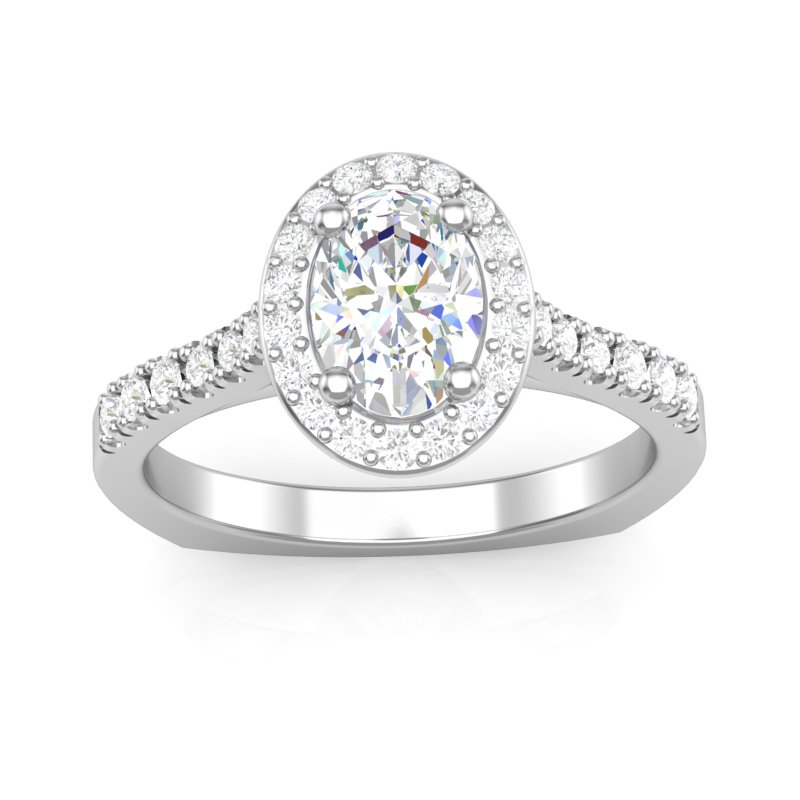 Lasker Bridal Classic Oval Halo Ring Mounting