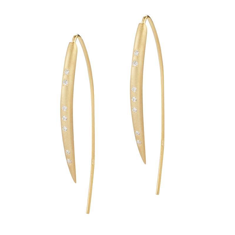 Lasker Gold Fashion Small Wire Hook Earrings