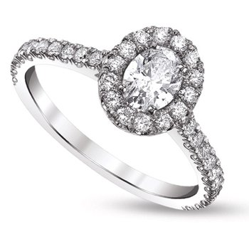 Oval Halo Ring - 1.57cttw
