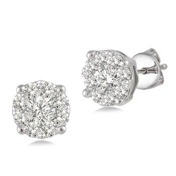 Lovebright Diamond Stud Earrings .75cttw