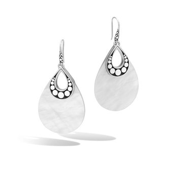 Classic Chain Drop Earrings with White Quartzite