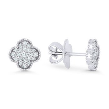 Granada Floral Diamond Pave Earrings