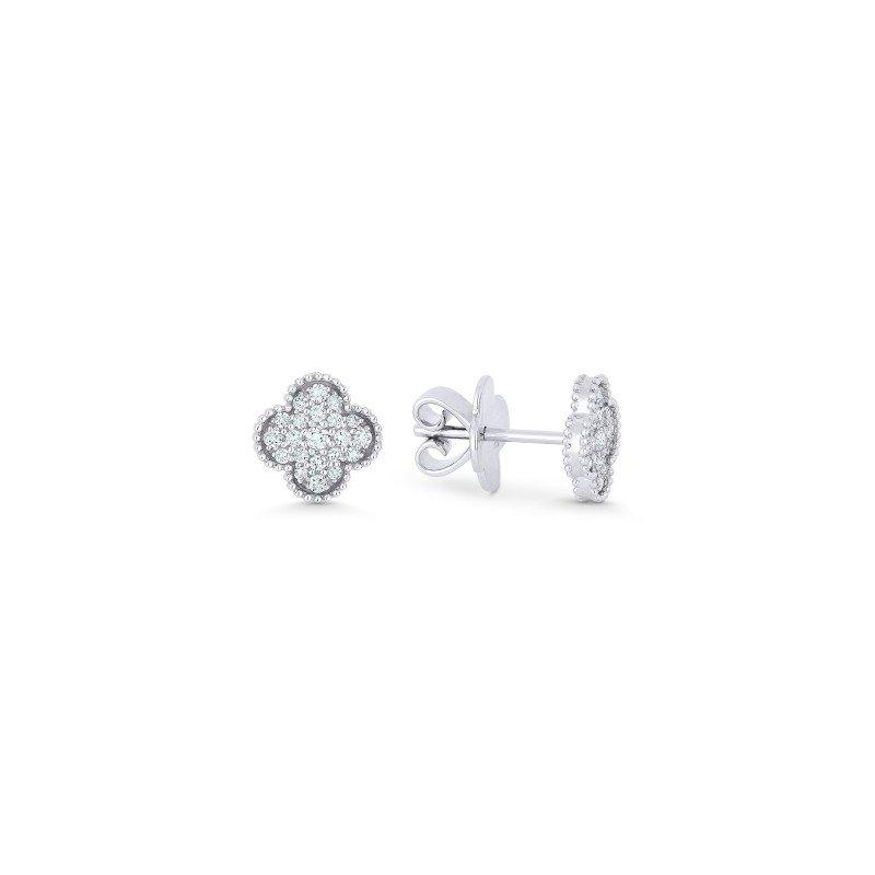 Lasker Diamond Fashion Granada Floral Diamond Pave Earrings