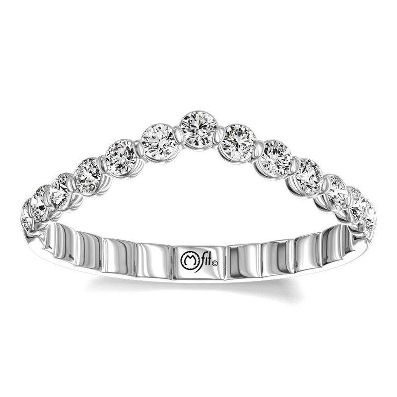Lasker Bridal Vanessa Chevron Diamond Band - .25ctw